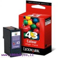 ראש LEXMARK  צבע 43