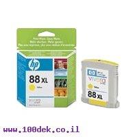 מילוי דיו 88XL צהוב C9393A HC K550 HP מקורי