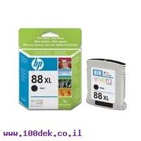 מילוי דיו 88XL שחור C9396A HC K550 HP מקורי