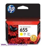 דיו למדפסת HP CZ112AE/655 צהוב - מקורי