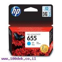 דיו למדפסת HP CZ110AE/655 כחול - מקורי