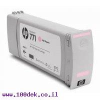 מילוי דיו מקורי HP 771 CR254A לייט מג'נטה - שלישיה