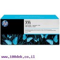 מילוי דיו מקורי HP 771 CR255A לייט ציאן - שלישיה