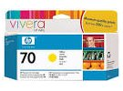 תמונה של מוצר מילוי דיו מקורי HP 70 C9454A צהוב