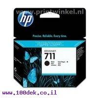 מילוי HP 711 שחור 80ml ל CZ133A T-520 מקורי