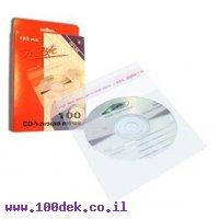 עטיפות צלופן  נילון ל CD + פס סגירה הדבקה 1/100