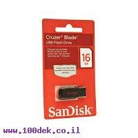 זכרון נייד (דיסק און קי) SanDisk 16GB