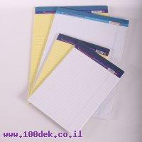 בלוק נייר A5 משובץ - צהוב, 50 דף