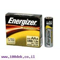 סוללה אלקלין  אצבע AA ENERGIZER  יחידות 4