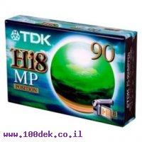קלטות למצלמה  P5-90 HMP HI8  TDK