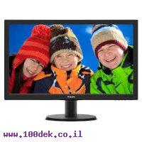 מסך פיליפס VGA DVI 23.6 1:10M 8MS spkr
