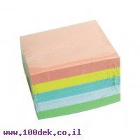 """מזכרית דביקה צבעונית 76X76 מ""""מ - 500 דפים"""