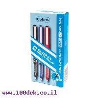 """עט ראש סיכה COBRA 505 - עובי 0.5 מ""""מ - כחול"""
