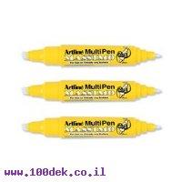 טוש הדגשה (מרקר) artline (ארטליין) MASSIMO דו צדדי - ורוד