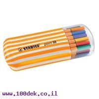 עט סטאבילו פוינט 88 /20 יחידות בקלמר חדש