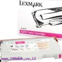 טונר  לקס מרק LEXMARK  אדום  C 510   HYמקורי