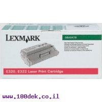 טונר לקס מרק  שחור    LEXMARK  E320/322 6K מקורי