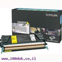 טונר צהוב לקס מרק  LEXMARK 524 C מקורי