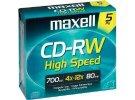 תמונה של מוצר  דיסק לצריבה רב-פעמית CD-RW 700MB MAXELL