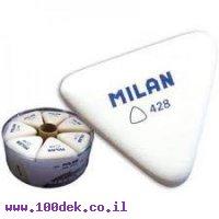 מחק פלסטי לבן MILAN דגם 428 משולש