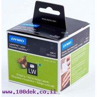 """גליל מדבקות נייר Dymo LW 99014 גודל 101x54 מ""""מ - 220 מדבקות עם דבק רגיל"""