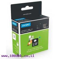"""גליל מדבקות נייר Dymo LW 929120 גודל 25x25 מ""""מ - 750 מדבקות ניתנות להסרה"""