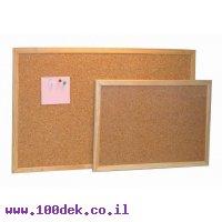 """לוח שעם מסגרת עץ בגודל 60x80 ס""""מ"""