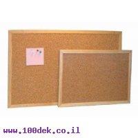 """לוח שעם מסגרת עץ בגודל 80x120 ס""""מ"""
