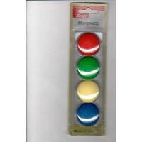 """מגנטים צבעוניים 40 מ""""מ 4 בבליסטר"""