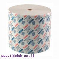 """מגבת נייר תעשייתי - טישו דו שכבתי 400 מטר ברוחב 32 ס""""מ עם פרפורציה"""