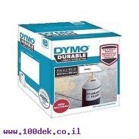 """גליל מדבקות פלסטיק עמידות Dymo LW 1933086 גודל 159x104 מ""""מ - 200 מדבקות עם דבק תעשייתי"""