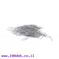 אטב נייר מס' 5 בינוני - ניקל - 100 יחידות
