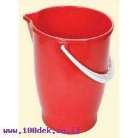דלי פלסטיק עם פיה - 15 ליטר