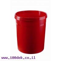 סל אשפה אטום - 18 ליטר, אדום