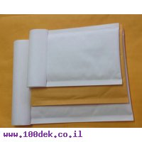 """מעטפה מרופדת קשיחה D, גודל פנימי 17.5x27.5 ס""""מ, 100 יחידות"""