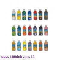 צבע גואש במגוון צבעים - ערכת 15 בקבוקים במשקל 500 גרם
