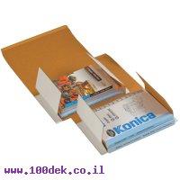"""קופסה מקרטון למשלוח ספר - 180x250 מ""""מ"""