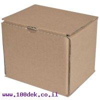 """קופסה מקרטון חום - 150x130x130 מ""""מ"""