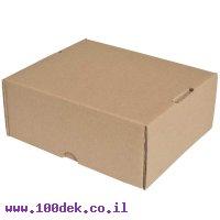 """קופסה מקרטון חום - 215x185x90 מ""""מ"""