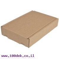 """קופסה מקרטון חום - 265x160x48 מ""""מ"""
