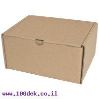 """קופסה מקרטון חום - 240x185x120 מ""""מ"""
