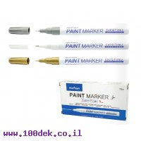 טוש לא מחיק Paint Marker מטאלי דק במיוחד (UF) - לבן